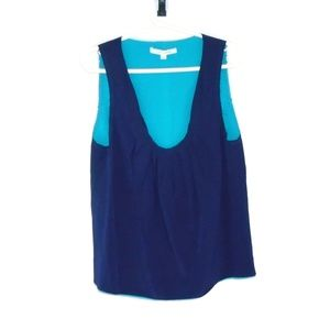 Marc Jacobs 100% Silk Tank Top Blue Size 10